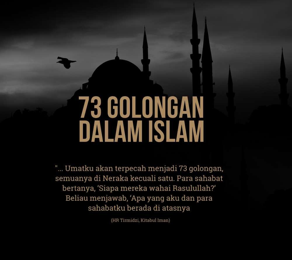 islam terpecah 73 golongan dalam islam