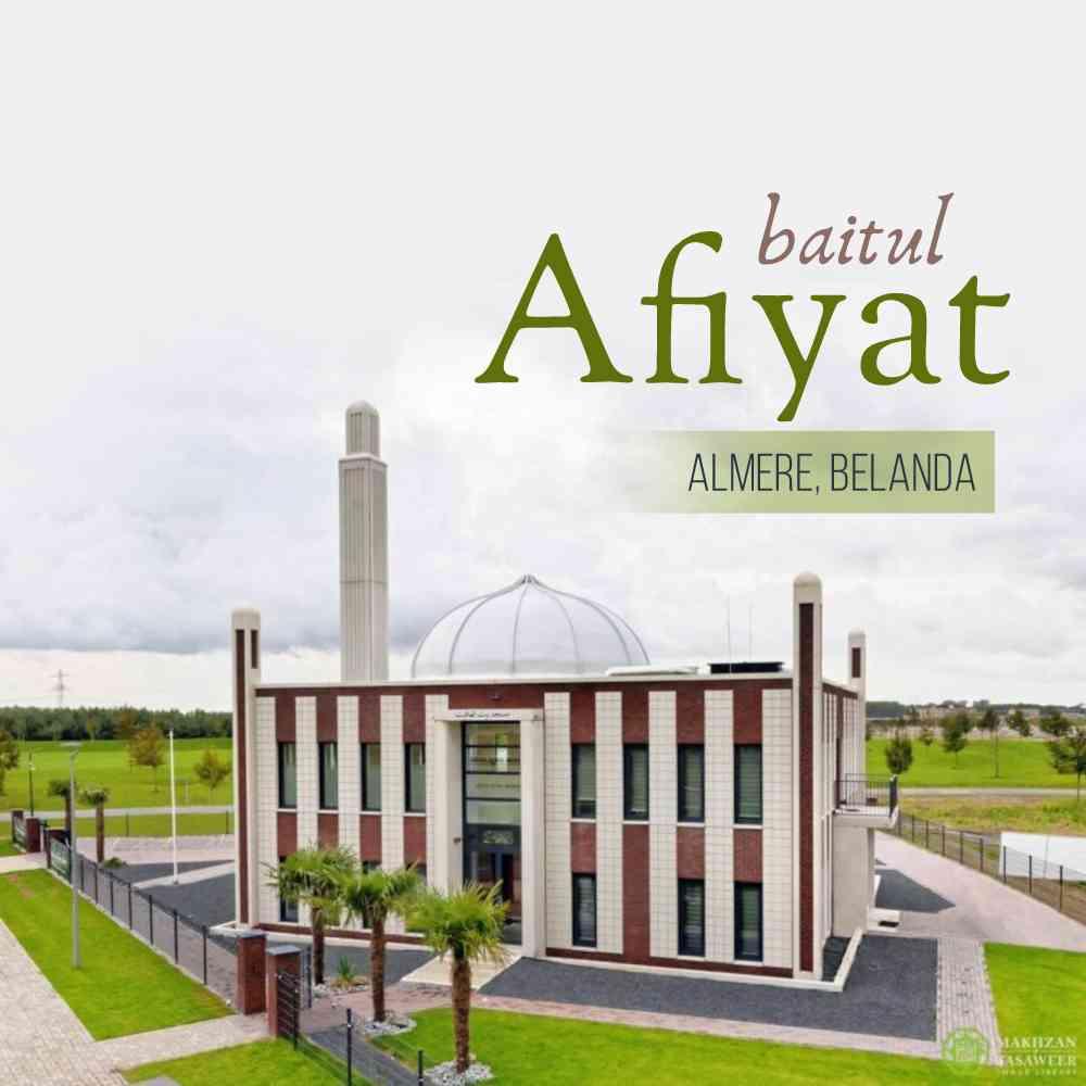 peresmian masjid baitul afiyat ahmadiyah belanda