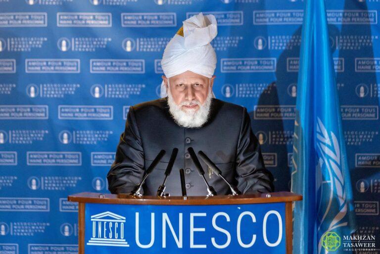 pemimpin ahmadiyah pidato unesco