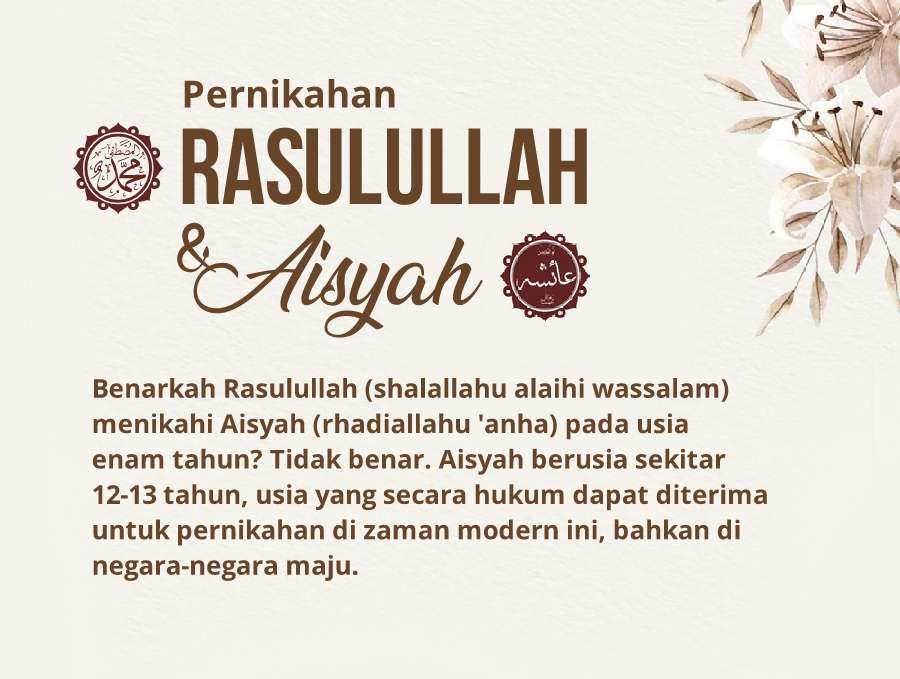 Usia pernikahan aisyah ketika menikah dengan nabi muhammad