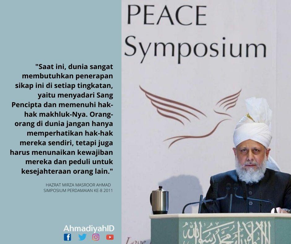 Perdamaian Dunia akan Terwujud jika kita Menyadari Tuhan